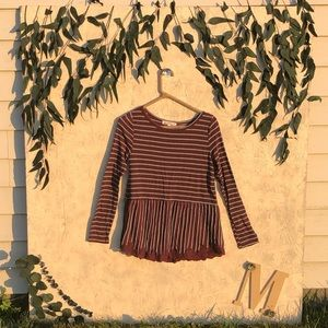 striped baby doll shaped long sleeve!